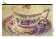 Floral Teacup Carry-all Pouch
