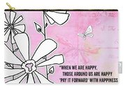 Floral Typography Word Art Quote Flowers And Butterflies By Megan Duncanson Carry-all Pouch