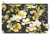 Floral Yellow Carry-all Pouch