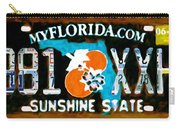 Florida License Plate Carry-all Pouch