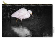 Florida Snow In Black And White Carry-all Pouch
