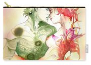 Flower And Leaf Carry-all Pouch