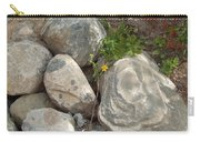 Flower And Rocks Carry-all Pouch