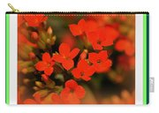 Flower And Time Quote Carry-all Pouch