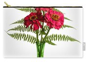 Flower Arrangement With Ferns And Zinnias Carry-all Pouch