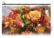 Flower Bouquet Greetings Carry-all Pouch