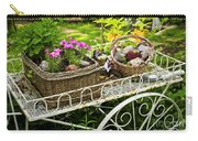 Flower Cart In Garden Carry-all Pouch