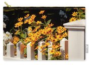 Flower - Coreopsis - The Warmth Of Summer Carry-all Pouch by Mike Savad