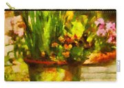 Flower - Daffodil - A Pot Of Daffodil's Carry-all Pouch by Mike Savad