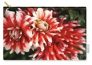 Flower-dahlia-red-white-trio Carry-all Pouch
