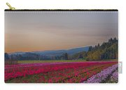 Flower Field At Sunset In A Standard Ratio Carry-all Pouch