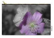 Flower Friends In Black And White Carry-all Pouch