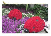 Flower Garden Ladybug Purple White I Carry-all Pouch