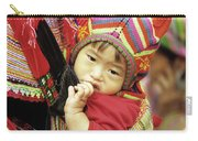 Flower Hmong Baby 01 Carry-all Pouch