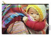 Flower Hmong Baby 04 Carry-all Pouch