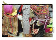 Flower Hmong Mothers And Babies Carry-all Pouch