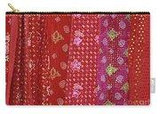 Flower Hmong Velvet Carry-all Pouch