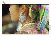 Flower Hmong Woman Carry-all Pouch