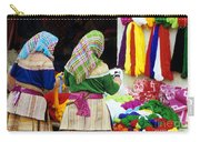 Flower Hmong Wool Stall Carry-all Pouch