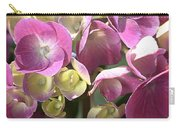 Flower-hydrangea Pink Carry-all Pouch