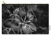 Flower In B-w Carry-all Pouch