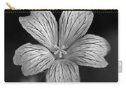 Flower In Black And White Carry-all Pouch