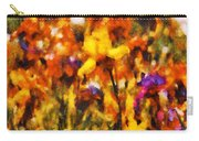 Flower - Iris - Orchestra Carry-all Pouch by Mike Savad