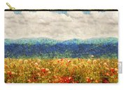 Flower - Landscape - Fragrant Valley Carry-all Pouch by Mike Savad