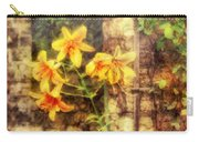 Flower - Lily - Yellow Lily  Carry-all Pouch by Mike Savad