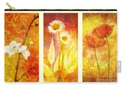 Flower Love Triptic Carry-all Pouch