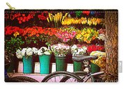 Flower Market With Bike Carry-all Pouch