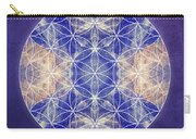 Flower Of Life Blue Carry-all Pouch