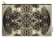 Flower Of Life Silver Carry-all Pouch by Filippo B