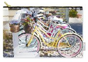 Flower On A Bicycle 2 Carry-all Pouch