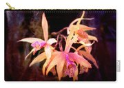 Flower - Orchid - Laelia - Midnight Passion Carry-all Pouch by Mike Savad