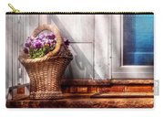 Flower - Pansy - Basket Of Flowers Carry-all Pouch by Mike Savad