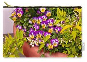 Flower - Pansy - Purple Posies  Carry-all Pouch