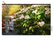 Flower - Rose - By A Wall  Carry-all Pouch by Mike Savad