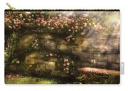 Flower - Rose - In The Rose Garden  Carry-all Pouch by Mike Savad