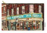 Flower Shop Rue Notre Dame Street Coin Vert Fleuriste Boutique Montreal Winter Stroll Scene Carry-all Pouch
