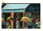Flower Shop With Green Awnings Carry-all Pouch