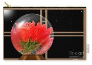Flower Snow Globe At Window Carry-all Pouch