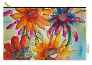 Flower Splash Carry-all Pouch