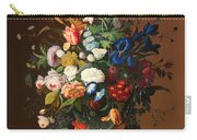 Flower Still Life With A Bird's Nest Carry-all Pouch