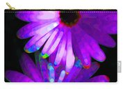 Flower Study 6 - Vibrant Purple By Sharon Cummings Carry-all Pouch by Sharon Cummings