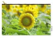 Flower - Texas Sunflower Field 1 - Luther Fine Art Carry-all Pouch