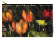 Flower - Tulip -  Orange Irene And Red  Carry-all Pouch