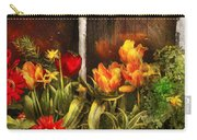 Flower - Tulip - Tulips In A Window Carry-all Pouch by Mike Savad