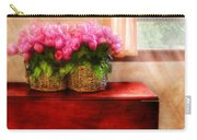 Flower - Tulips By A Window Carry-all Pouch by Mike Savad