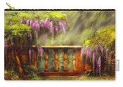 Flower - Wisteria - A Lovers View Carry-all Pouch by Mike Savad